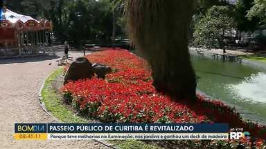 Passeio Público de Curitiba passa por revitalização - Teve melhorias na iluminação, no paisagismo e na estrutura do parque.