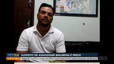 Confira parte do depoimento do suspeito de matar bailarina em Maringá - Segundo a polícia, um exame de DNA é a principal prova contra o suspeito.