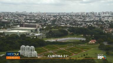Curitiba tem tarde de céu nublado - Temperaturas ficam amenas neste sábado.