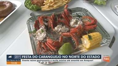Começa em Araquari a Festa do Caranguejo - Começa em Araquari a Festa do Caranguejo