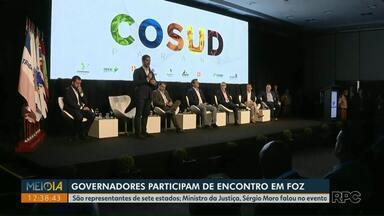 Governadores de sete estados participam de encontro em Foz do Iguaçu - O Ministro da Justiça, Sérgio Moro fez uma palestra durante o evento.