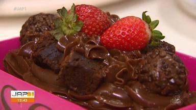 Páscoa: aprenda a fazer um ovo de chocolate crocante com cereal de milho e brownie - É uma opção para empreender. Quem ensina a receita é a confeiteira Maria Freitas.