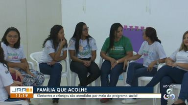 Família que acolhe atende gestantes e mais de 17 mil crianças de Boa Vista - Gestantes e crianças são atendidas por meio do programa social.