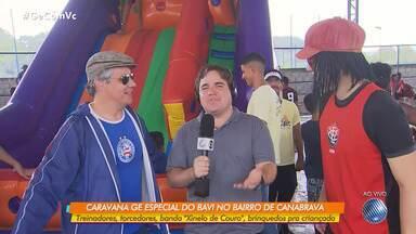 Jair e Vicentino fazem pirraça sobre o BA-VI de domingo, pelo Campeonato Baiano - Confira o quadro de humor do GE.