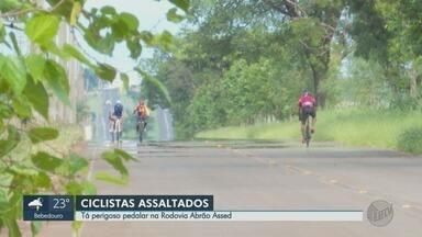 Ciclistas relatam medo após assaltos em Ribeirão Preto, SP - Grupo faz 'vaquinha' para contratar segurança particular durante os treinos.