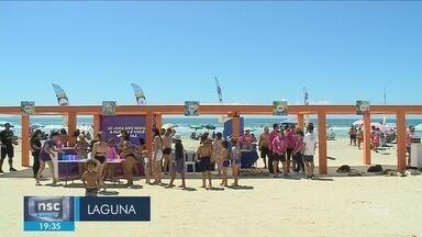 Giro de notícias: Projeto Conexão Verão promove atividades gratuitas em praia de Laguna - Giro de notícias: Projeto Conexão Verão promove atividades gratuitas em praia de Laguna