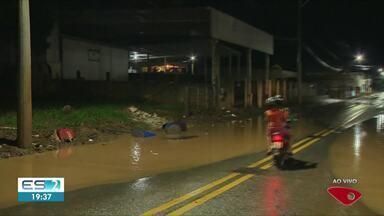 Chuva volta a cair e preocupa moradores de Iconha, ES - Nível do rio subiu.