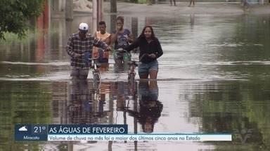 Volume de chuva no mês de fevereiro é o maior dos últimos cinco anos - Cidades da Baixada Santista sofreram consequências com as chuvas.