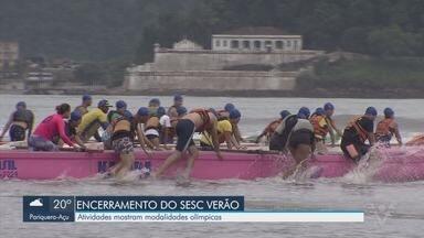 Atividades no Sesc mostram modalidades olímpicas - Prova marca fim de atividades do Sesc Verão.