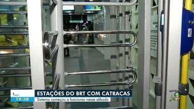 Começam a funcionar as catracas em estações do BRT - Saiba mais no g1.com.br/ce