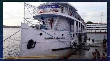 Barco de passageiros afunda no Amapá e deixa três mortos - Número exato de passageiros a bordo ainda é desconhecido, mas comandante estima que 20 estejam desaparecidos.
