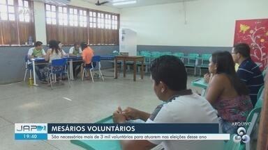 TRE do Amapá abre prazo para inscrição voluntária de mesários - Iniciativa visa organizar contingente para as eleições de outubro.