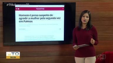 Homem é preso suspeito de agredir a mulher pela segunda vez em Palmas - Homem é preso suspeito de agredir a mulher pela segunda vez em Palmas