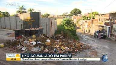 Moradores do Subúrbio reclamam de diversos problemas na região - Lixo acumulado e esgoto entupido estão entre as queixas da comunidade.