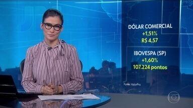 Dólar comercial sobe pelo 11º dia seguido - Cotação da moeda americana fecha em R$ 4,57.