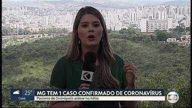 Minas Gerais confirma um caso de coronavírus - Paciente é de Divinópolis.