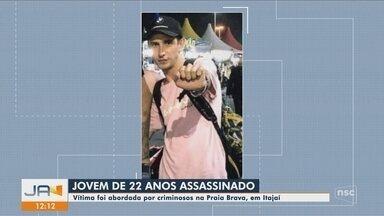 Polícia investiga morte de jovem desaparecido em Itajaí; corpo estava em riacho - Polícia investiga morte de jovem desaparecido em Itajaí; corpo estava em riacho