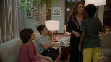 Nicolas e Tomás implicam com Tiago - Miranda repreende os filhos