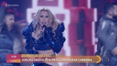 Joelma grava DVD para comemorar carreira - A cantora coloca todo mundo pra dançar no palco do 'Encontro'