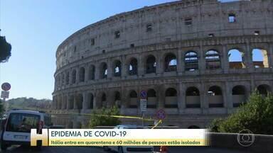 Itália entra em quarentena e 60 milhões de pessoas estão isoladas - Por causa do novo coronavírus, a circulação de pessoas está restrita em toda a Itália. São 60 milhões de pessoas afetadas.