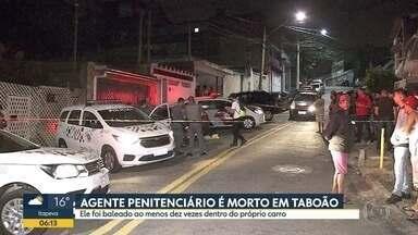 Agente penitenciário é assassinado em Taboão da Serra - Crime ocorreu em frente à porta da casa do agente. Polícia diz que ele foi executado.