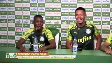 Garotos do Palmeiras se divertem enquanto tentam um lugar no time - Garotos do Palmeiras se divertem enquanto tentam um lugar no time