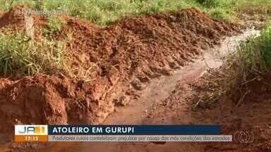 Produtores rurais contabilizam prejuízos por causa das más condições das estradas - Produtores rurais contabilizam prejuízos por causa das más condições das estradas