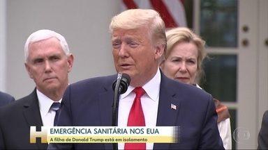 Depois de casos de COVIC-19 na comitiva brasileira, Trump faz teste para detectar a doença - Presidente americano decretou emergência sanitária nos EUA