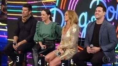 Confira os convidados do Ding Dong deste domingo - Milhem Cortaz e Clarissa Kiste duelam com Thiago Pereira e Hortência