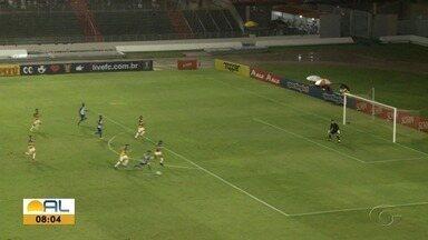 CSA goleia o Freipaulistano e conquista primeira vitória na Copa do Nordeste - Time azulino venceu por 4 a 0