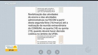 Aumento dos casos de coronavírus provoca a suspensão parcial das aulas em Salvador - Colégios particulares e cursos da Universidade Federal da Bahia anunciaram a paralisação das atividades.