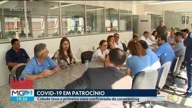 Ações de prevenção são discutidas após primeiro caso de coronavírus em Patrocínio - Visitas a pacientes do pronto-socorro da cidade estão suspensas. Paciente diagnosticada com o vírus está em isolamento domiciliar.