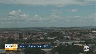 Veja a previsão do tempo nesta terça-feira (17) para região - São Carlos terá máxima de 31ºC e pode chover em alguns pontos.
