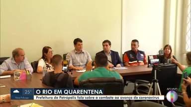 Prefeitura de Petrópolis, RJ, fala sobre o combate ao avanço do coronavírus - Município anuncia novas medidas de restrições.
