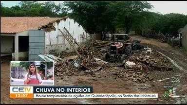 Rompimento de açudes em Quiterianópolis - Saiba mais em g1.com.br/ce