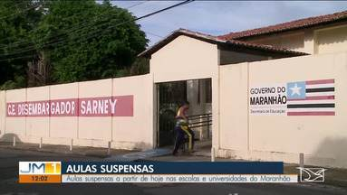 Aulas suspensas nas escolas e universidades do Maranhão - A partir desta terça-feira (17), universidades, escolas estaduais, municipais e particulares estarão fechadas, para evitar a disseminação do novo coronavírus.