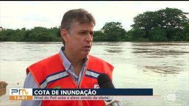 Nível do Rio Poti atinge cota de inundação - Nível do Rio Poti atinge cota de inundação