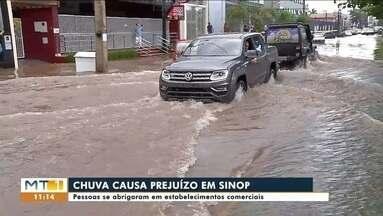 Transtornos causados pela chuva no centro de Sinop - Transtornos causados pela chuva no centro de Sinop