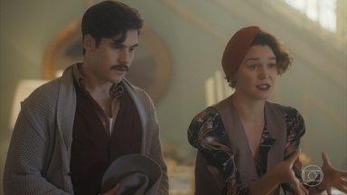 Adelaide leva Alfredo para casa e Emília se incomoda - Justina e Adelaide tentam convencer a mãe ajudar Alfredo