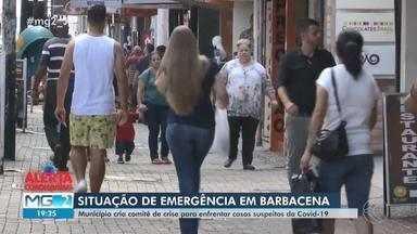 Prefeitura de Barbacena decreta situação de emergência por conta de coronavírus - Na cidade, a Secretaria de Estado de Saúde (SES-MG) investiga dois casos suspeitos de Covid-19. Confira as medidas adotadas.