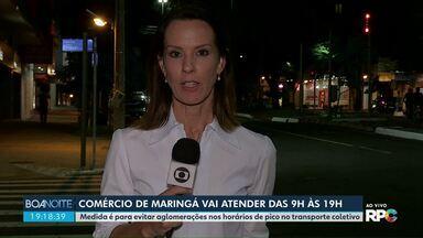 Comércio de Maringá vai atender das 9h às 19h - Decisão foi anunciada hoje.