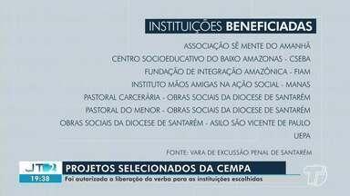 16 instituições de Santarém foram contempladas com verbas de penas pecuniárias - Os projetos foram selecionados pela central de medidas e penais alternativas. Cada instituições recebeu até 15 mil reais.
