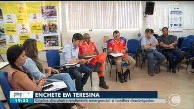 Órgãos discutem ações emergenciais para famílias desabrigadas em Teresina - Órgãos discutem ações emergenciais para famílias desabrigadas em Teresina