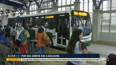 Termina a greve do transporte coletivo em Cascavel - Transporte coletivo voltou a funcionar normalmente durante a madrugada de hoje.