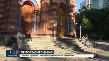 Igreja de São José está fechada nesta quinta-feira - Medida é para proteção dos fiéis contra o coronavírus.
