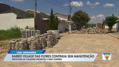 Bairro esburacado em Caçapava segue sem solução - Prefeito de Caçapava prometeu melhorias e não cumpriu.