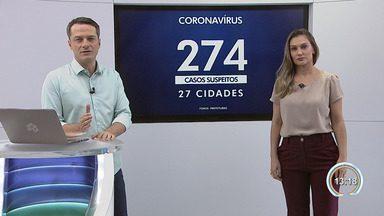 Veja o número de casos suspeitos de coronavírus na região - Taubaté segue como a cidade com o maio número de casos suspeitos.