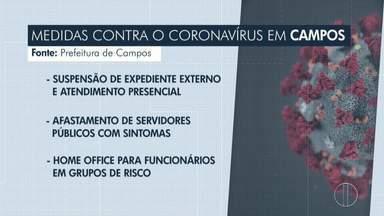Prefeitura de Campos toma novas medidas para prevenção do coronavírus - Entre elas estão a suspensão de atendimento presencial e a permissão para que funcionários com sintomas trabalhem de casa.