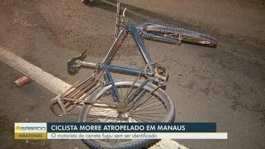 Ciclista morre após ser atropelado por carreta - Motorista da carreta fugiu sem ser identificado.