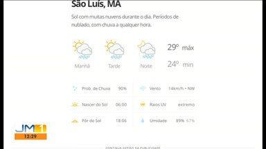 Veja as variações das temperaturas no Maranhão - Confira a previsão do tempo neste sábado (21) em São Luís e também no interior do estado.